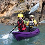 pembrokeshire coast children kayaking