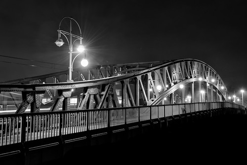 Bornholmer Brücke at night