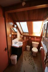 Chambre de bain de la chambre Éva, au Champayeur.
