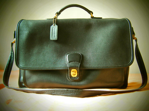 coach black metropolitan briefcase messenger bag glove tanned leather manila philippines