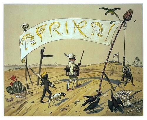 005-La llegada-Afrika  Studien und Einfaelle eines Malers 1895- Hans Richard von Volkmann- Universitätsbibliotheken Oldenburg