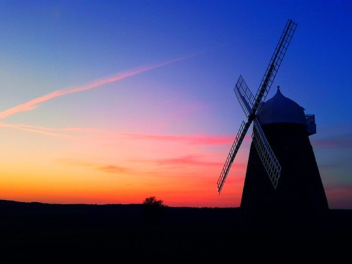 sunset sky windmill sussex day sails 100v10f clear chichester halnaker boxgrove diamondclassphotographer flickrdiamond