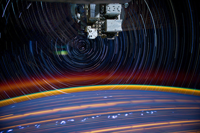 Star Trails in Space (NASA, International Space Station, 03/16/12)