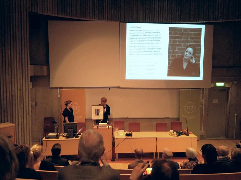 Carolina Laudon mottar Berlingpriset
