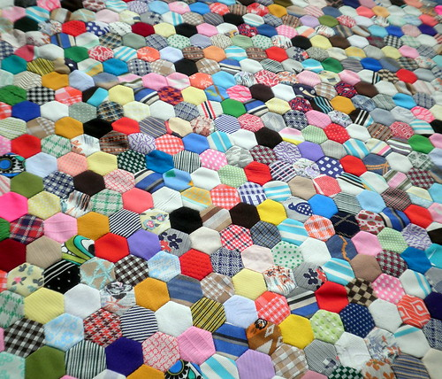 Vintage Hexagon Quilt