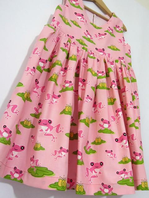 pink frog dress hem