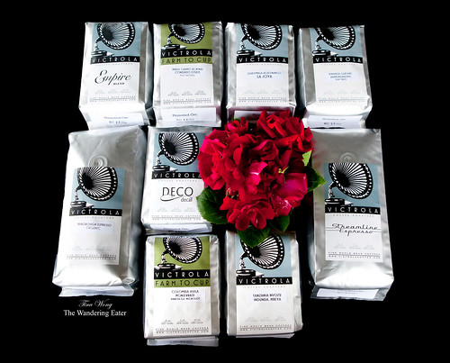 9 different blends and single origin coffee beans from Victrola Coffee from Seattle, WA