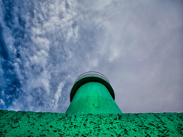 The green lighthouse