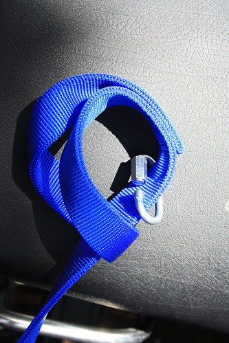 Quick link attaches leash to hook and eye