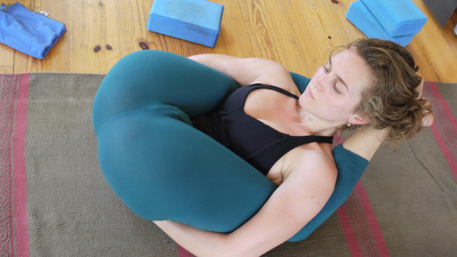 Pants hot through see yoga girls