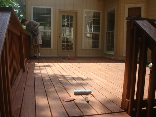 Restaining The Deck