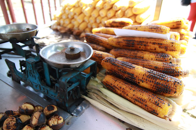 Grilled Chestnut and Corn