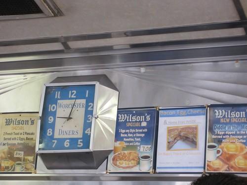 Wilson's Diner Worcester Diner Clock