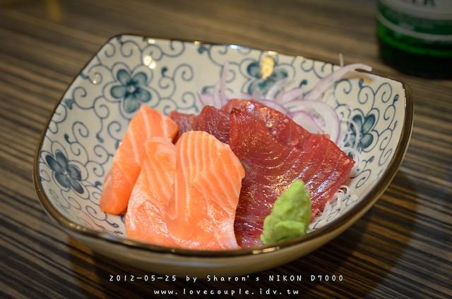 鮭魚+鮪魚生魚片
