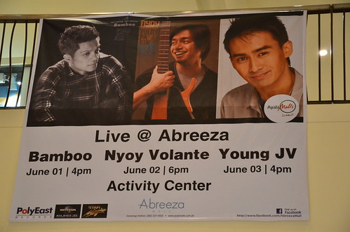 Bamboo, Nyoy Volante and Young JV Live at Abreeza Activity Center June 2012