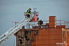 Feuer Industriekran Schiersteiner Hafen 01.06.12