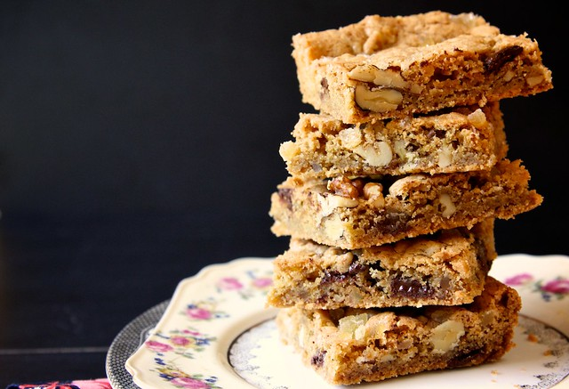 and chocolate chip blondies dark chocolate hazelnut skillet blondies ...