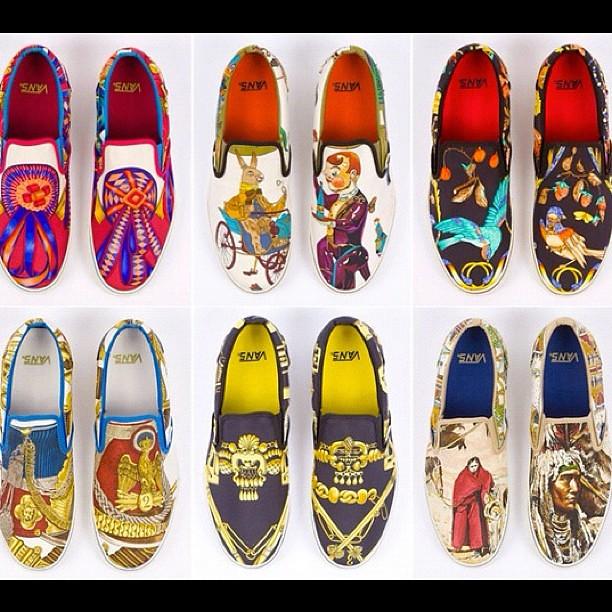 Hermes meets Vans vintage Hermes scarves turned into custom shoes  Vintage Hermes Scarves Vans