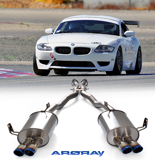 Bmw Z4m Supercharger: Arqray Titanium Exhaust Installed On Our Z4M