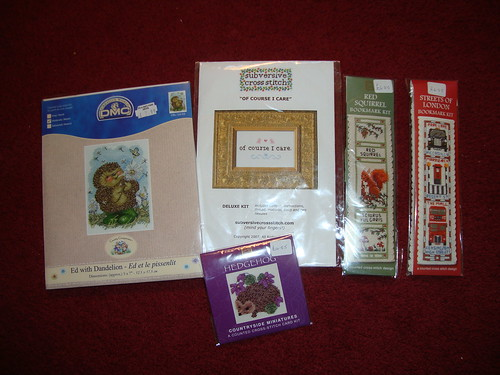 cross stitch kit stash