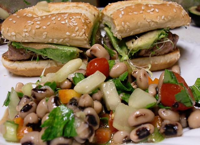 African Black Bean Salad (Saladu Nebbe)