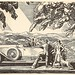 Rolls Royce USA - press advert line drawing by Rockwell Kent, c1926