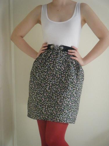 Tank top dress with a cute belt!