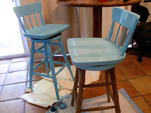What I did with leftover Jamaican Sea Blue Paint