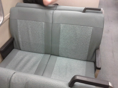 New vinyl BART train seats
