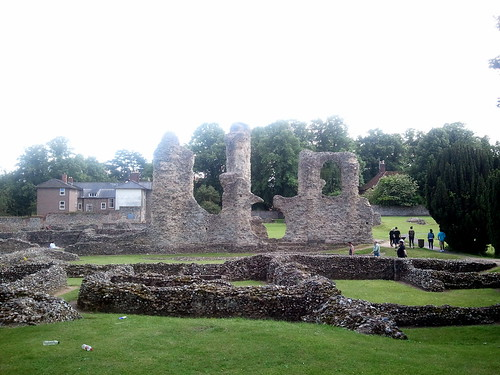 The monastery ruins within the Abbey Gardens