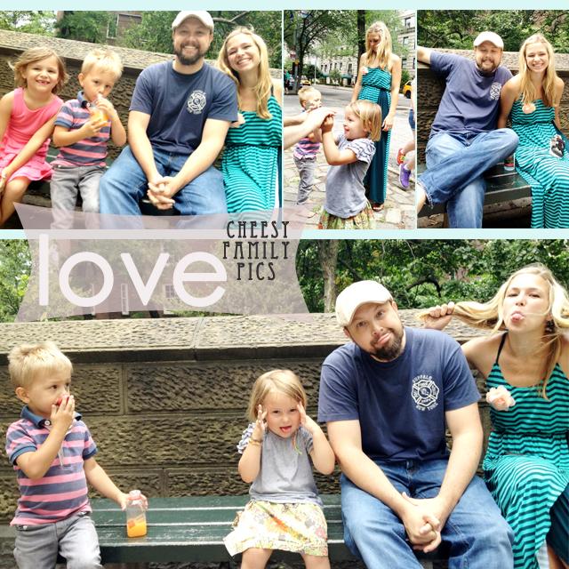 cheesy family pics