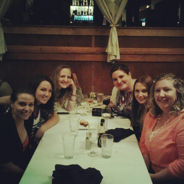 Dinner at the Paper Mill Grille with Sherry, Katie, Colleen, Beth, Dusty and Kent