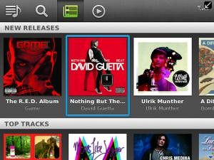Spotify BlackBerry App world