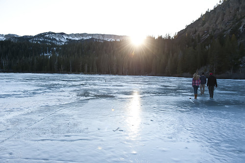 Frozen Lower Twin Lakes