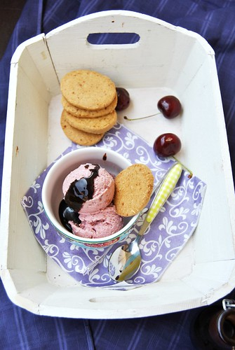 Roasted Cherry Ice Cream