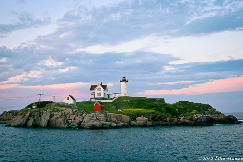 Nubble Light at Dusk, York Beach, Maine by Genny164