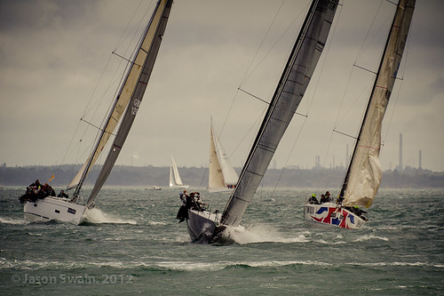 Putting the RACE into the 2012 Round the Island Race.