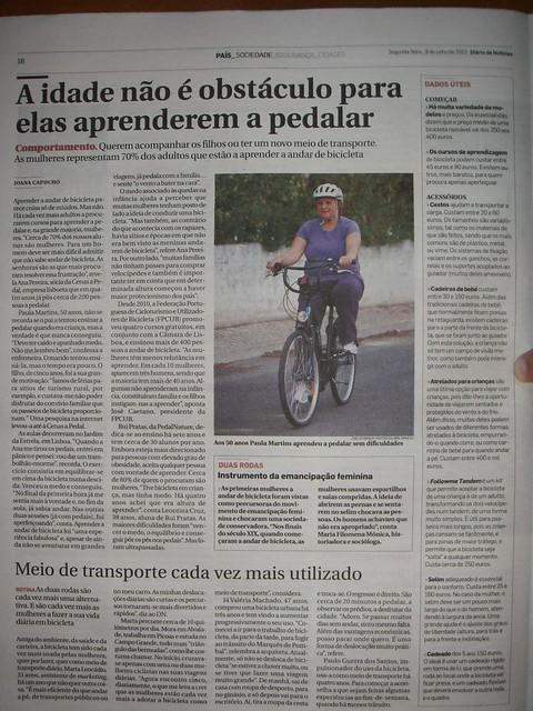 """""""A idade não é obstáculo para elas aprenderem a pedalar"""""""