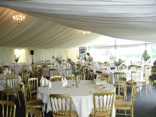 Marquee set up for event