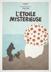 The Shooting Star - Tintin alternative poster.