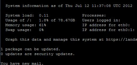 Ubuntu 12.04 Precise Pangolin Console