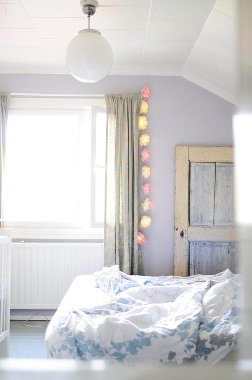 Fabric peony lights