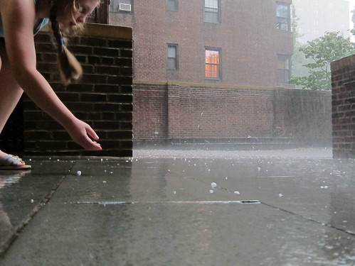 The Great and Fearsome NYC Storm of Mid-July 2012: Hail yeah!