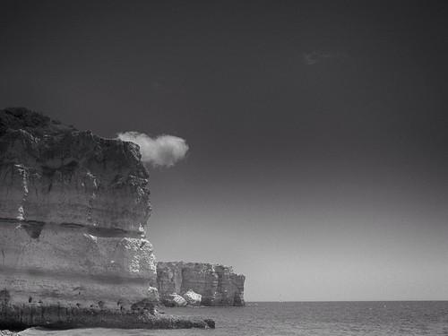 無料写真素材, 自然風景, ビーチ・海岸, 海, 風景  ポルトガル, モノクロ