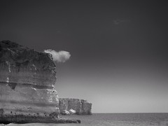 [Free Images] Nature, Beach / Coast, Sea / Ocean, Landscape - Portugal, Black and White ID:201207251600