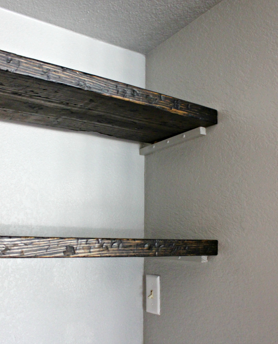 Distressed Floating Shelves