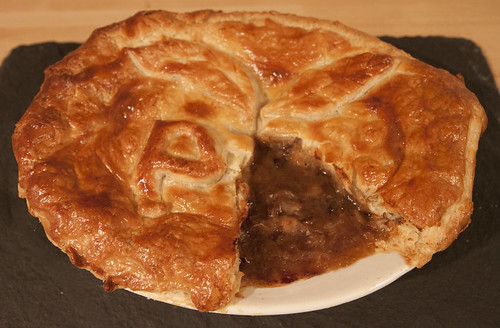 Traditional Steak & Ale Pie - A Sample of the Pie