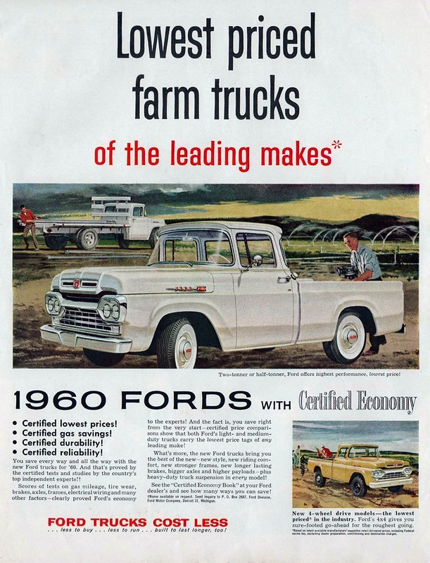 1960 Ford farm pickups advertisement