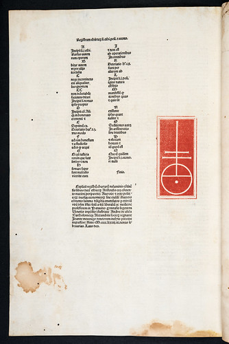 Colophon and printer's device in Aristoteles: Opera [Latin]