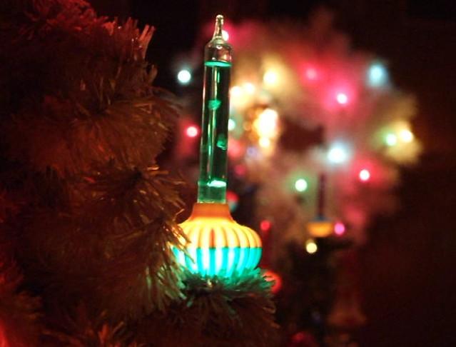 Vintage Christmas Tree Bubble Lights